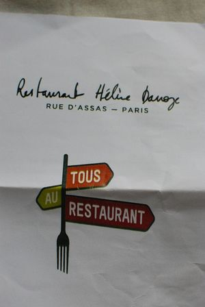 Menu tous au restaurant